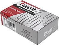 """Скріпки """"Axent"""" №4102 50мм (100шт) круг. нікел.(10)(100)"""