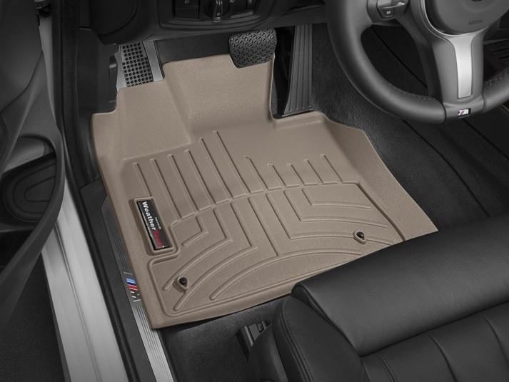 Ковры резиновые WeatherTech BMW X5 (F15) 2014-2018 передние бежевые