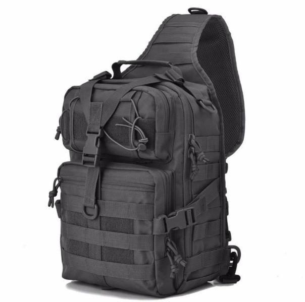 Сумка-рюкзак тактическая военная A92(черный)