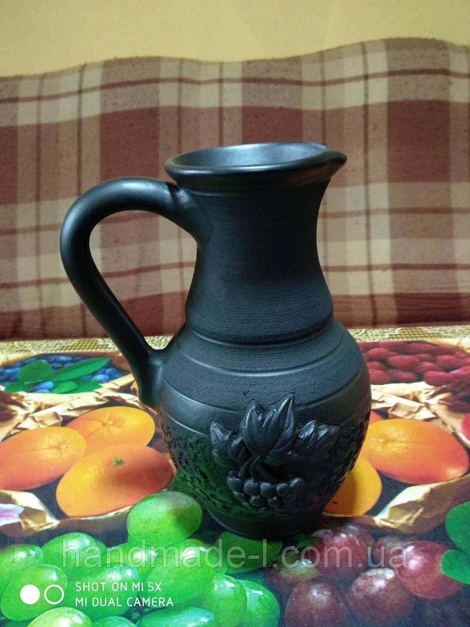 Молочник керамічний гончарний 450мл