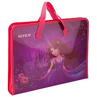 "Папка-портфель ""Kite"" №K19-202-01 A4 пласт. Princess на блиск.(1)(60)"