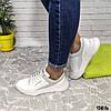 Белые женские кожаные кроссовки