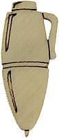 Канцелярське приладдя (олівці, пензлі, ручки) 2-3см фанера асорті(10)
