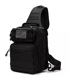 Велика нагрудна сумка D14(чорний)
