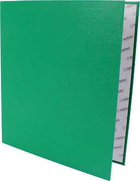 """Папка """"Norma"""" №5306 A4 на 4кільця d-45мм (D) PVC картон (зелена)(24)"""
