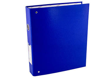 "Папка ""Norma"" №5306 A4 на 4кільця d-45мм (D) PVC картон (синя)(24)"