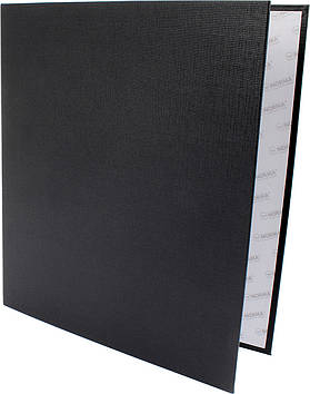 "Папка ""Norma"" №5306 A4 на 4кільця d-45мм (D) PVC картон (чорна)(24)"
