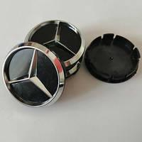 Колпачки на диски Mercedes 60/55мм объемные 4 штуки