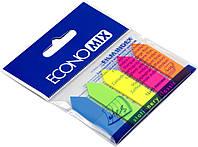 """Стікери-закладки """"Economix"""" 5неон.кольорів,25шт №Е20946 """"Стрілки""""(24)(48)"""