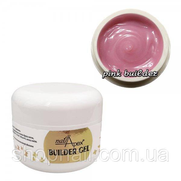 Гель желе Моделирующий крем Pink Builder Nailapex, нежно-розовый (30мл.)
