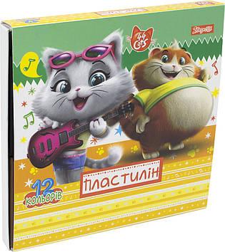 "Пластилін  12 кольор. ""1В"" №540521 44 Cats(32)"