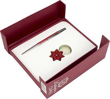 "Набір подар. ""Langres"" №122014-05 Star: ручка кульк.+брелок,черв."