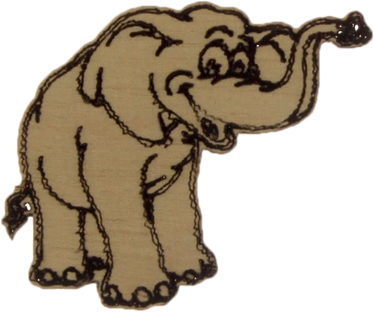 Слон 3х4см фанера