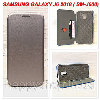 Чохол-книжка G-Case для Samsung Galaxy J6 2018 (SM-J600) Сірий, фото 2
