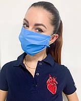 Медицинская одноразовая трёхслойная маска, фото 1