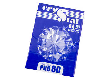 "Папір для ксер. A4 ""Crystal Pro"" 80г/м2 C (100арк)(25)"