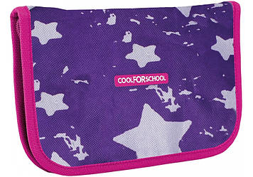 """Пенал """"CoolForSchool"""" Starry Violet твердий,1від. з відворотом №СF86605"""