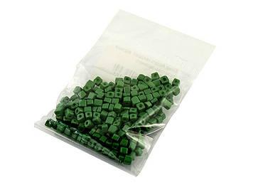 Бісер Асорті квадрат. відтінки салатово-зеленого(20)