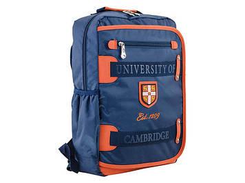 """Рюкзак """"Yes"""" Cambridge 2від.,4карм.,29х43х12см,синій №СА076/554023"""