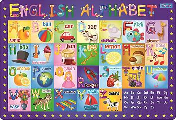 """Підкладка для столу дит. """"1В"""" №491467 Алфавіт (англ.)(10)"""