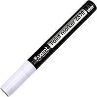 """Маркер """"Axent"""" №2570-21-A круг. Paint 2,4-2,8 мм білий(12)(120)"""