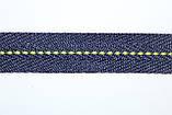 Тесьма киперная 20мм 50м синий + салат, фото 2