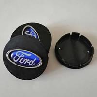 Колпачки на диски FORD 60/55мм объемные 4 штуки