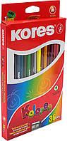 """Олівці кольор. 36 кольор. """"Kores"""" №K93336/96336 трикут. 3мм в кор-ці(4)"""