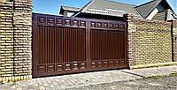 Автоматические распашные ворота TM Hardwick ш3200 в1800 (дизайн Премиум)