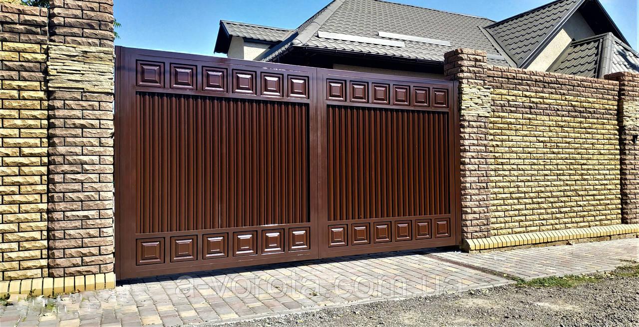 Автоматические распашные ворота TM Hardwick ш3200 в1800 (дизайн Премиум), цена 41526 грн., купить в Николаеве — Prom.ua (ID#824142037)