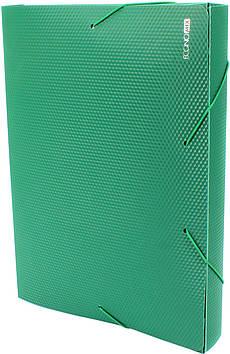 """Папка-бокс """"Economix"""" №E31402-04 A4 40мм пласт. на рез. зелен.(1)"""