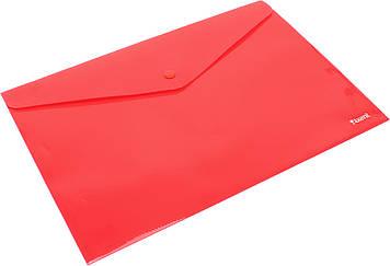 """Папка-конверт """"Axent"""" №1412-24 A4 на кнопці червона(12)(240)(480)"""