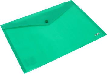 "Папка-конверт ""Axent"" №1412-25 A4 на кнопці зелена(12)(240)(480)"