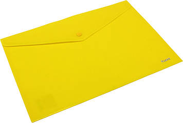 "Папка-конверт ""Axent"" №1412-26 A4 на кнопці жовта(12)(240)(480)"