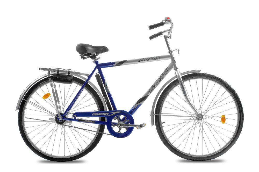 """Міський велосипед Ardis СЛАВУТИЧ R28"""" 22"""" з ножним гальмом і багажником (Синій)"""