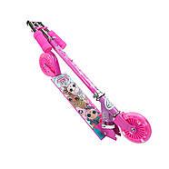 Детский оригинальный двухколесный самокат для девочки L.О.L. SURPRISE! Розовый (T14742-U), фото 6