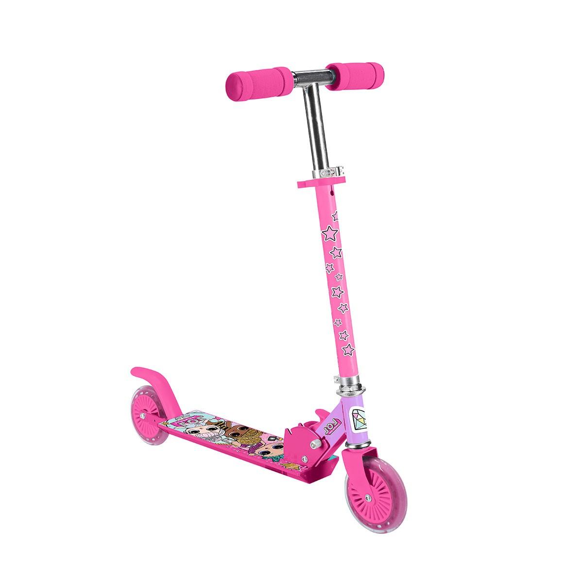 Детский оригинальный двухколесный самокат для девочки L.О.L. SURPRISE! Розовый (T14742-U)