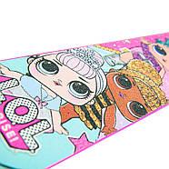 Детский оригинальный двухколесный самокат для девочки L.О.L. SURPRISE! Розовый (T14742-U), фото 7