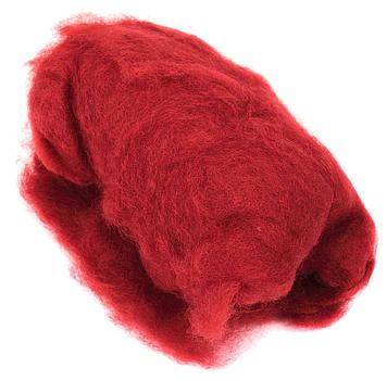 Вовна для валяння кардочесана,червона 40г №K301440/Rosa Talent/