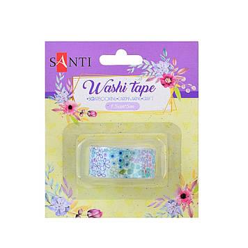 "Стрічка клейка декор. ""Santi"" паперова Flower 1,5смх5м №742208"