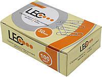 """Скріпки """"Leo"""" №L1916/140140 50мм (100шт) хвилясті(10)(100)"""
