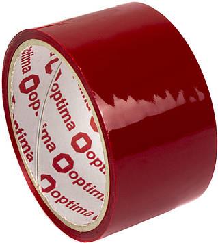 "Стрічка клейка канц. ""Optima"" №O45304-03 48ммх30м черв.(6)(72)"