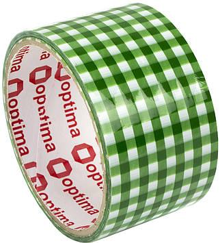 """Стрічка клейка канц. """"Optima"""" №O45364 Tartan 48ммх20м зелен. в клітинку(6)(72)"""