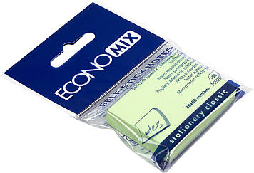 """Блок/заст. липк. куля 38х50мм 100арк. салат. """"Economix"""" №E20930-13(12)"""