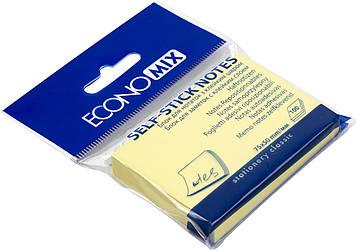 "Блок/заст. липк. куля 50х75мм 100арк. жовт. ""Economix"" №E20931(24)"