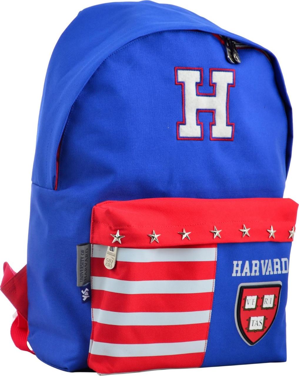 "Рюкзак молодий. ""Yes"" Harvard blue 1від.,1карм.,41х30х11см №SP-15/555040"