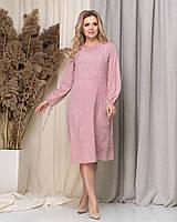 Платье женское стильное горошек в расцветках 60148, фото 1