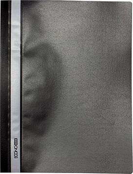 """Папка-швидкозш. """"Economix"""" №E31509-01 А4 з прозор.верхом,без перфори.апельсин чорн."""