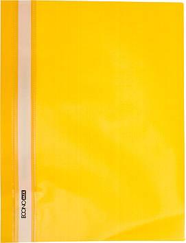 """Папка-швидкозш. """"Economix"""" №E31509-05 A4 з прозор.верхом,без перфори.,апельсина, натуральний.,жовта(10)"""