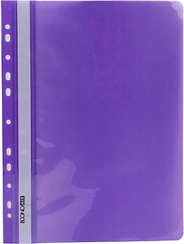 """Папка-швидкозш. """"Economix"""" №E31510-12 A4 з прозор.верхом,з перфори.,глянц. фіолет.(10)(300)"""